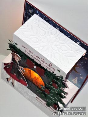 #Teelicht #Karte # Klappkarte #stempelliese.com #weihnachten