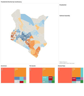 Presidential Election Kenya 2017 by Constituency