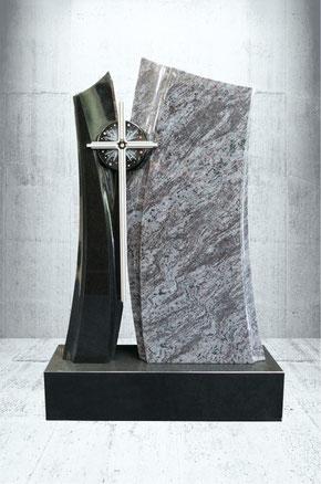 Grabstein Kreuz inklusiv Grabanlage