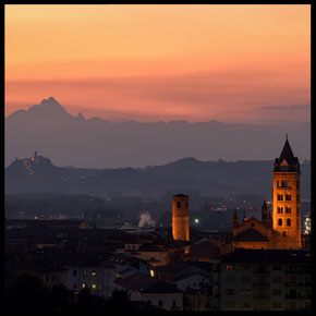 Alba and Monviso at sunset