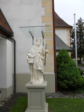 Restaurierung der Heiligenfiguren bei der Kirche in Hitzendorf