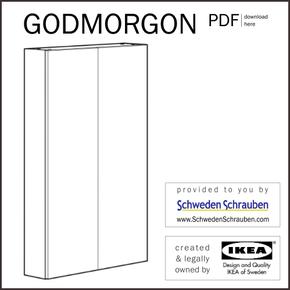GODMORGON Anleitung manual IKEA Wandschrank