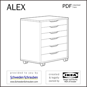 ALEX Anleitung manual IKEA Rollcontainer