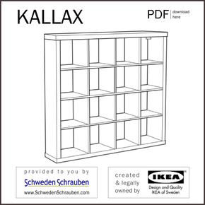 KALLAX Anleitung manual IKEA Regal