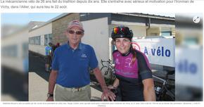 Mathilde BECAM prépare l'Ironman de VICHY
