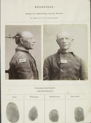Signalementskaart Veenhuizen opname: 27-05-1896