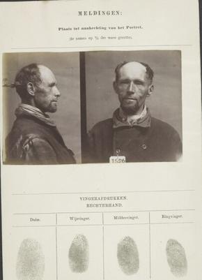 Signalementkaart Veenhuizen opname 11 augustus 1896