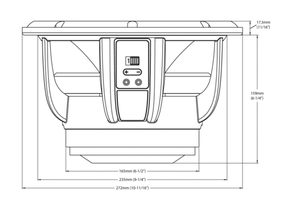 Skizze Audiofrog Lautsprecher Maße GB10D2