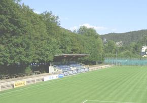Sponsoring und Werbeflächen auf einem Sportplatz bei einem Amateurverein