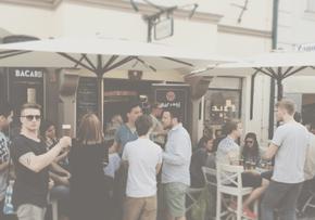 Hospitality und Veranstaltungen im Rahmen einer Produktpräsentation in einem Innenstadtlokal