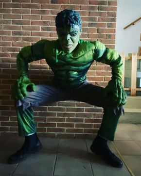 noleggio mascotte hulk roma
