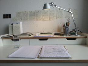Schreibtisch der Schriftstellerin Barbara Handke