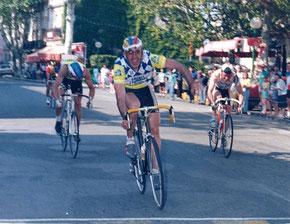 Vainqueur devant Taillefer, Faure, Lozano, et son frère