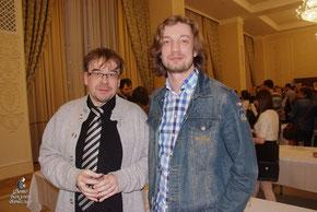 Вот два режиссёра, отмеченных жюри: Дамир Салимзянов (слева) и Филипп Разенков.