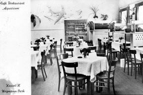Café Aquarium in den 1950er Jahren