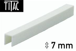 Agrafes en plastique Titac 7 mm