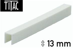 Agrafes en plastique Titac 13 mm
