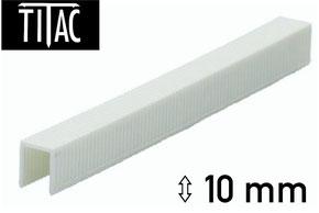 Agrafes en plastique Titac 10 mm