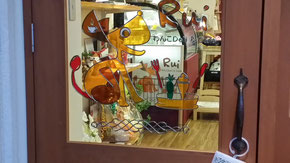 Rui入り口ガラスでお馴染みのグラスアート