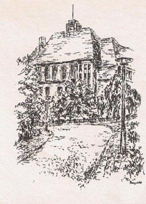 (Hier sehen Sie eine Originalskizze aus dem Jahre 1979 von Herrn Dr. Baugatz, damals Pfarrer in Altglienicke, dann als Zeichner und Maler tätig