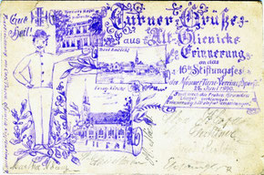 Gut Heil! Turner-Grüße aus Alt-Glienicke Erinnerung an das 16te Stiftungsfest des MännerTurn-Vereins Spieß 25. Juni 1890