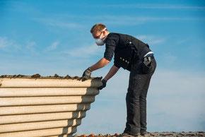 Asbest als Abdeckung für Dächer