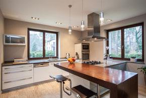 Küche mit kapillaraktiver Innendämmung