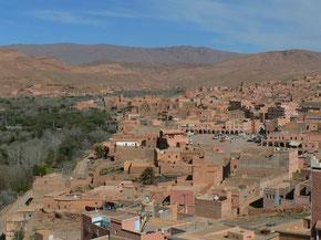 Village de Tinghir, Maroc