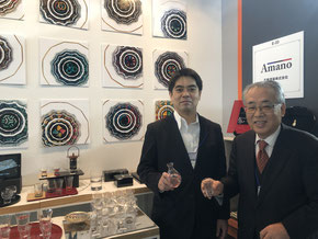 *The fourth-generation President Takahisa Amano (r.) and the fifth generation Shinichi Amano (l.)