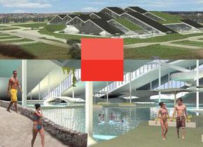 Schöner urlauben: So könnte das neue Badeland Søndervig Feriepark an der dänischen Westküste aussehen. Foto: PR