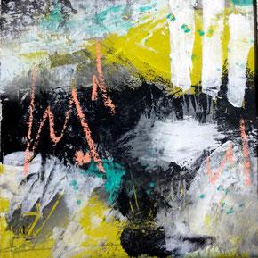 """SERIE 15/15 cm - """"Advantage life 01"""" - Acryl auf festem Papier hinter Passepartout/ Gesamtfomat 30 x 30 cm"""