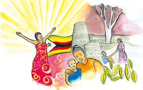 """""""Rise! Take Your Mat and Walk"""", Nonhlanhla Mathe, © Weltgebetstag der Frauen – Deutsches Komitee e.V."""