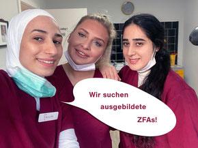 Ausgebildete ZFAs gesucht - Zahnärztinnen Claudia Lorenz-Schütze & Susanne Rautenberg in Hamburg-Eimsbüttel