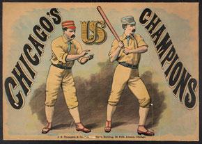 Il manifesto dei Chicago Campioni della prima National League 1876