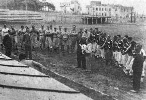 """Una bella immagine del Campo di Villa Borghese detta """"Fossa dei leoni"""" (Foto da """"Il baseball, la sua storia e Nettuno"""")"""