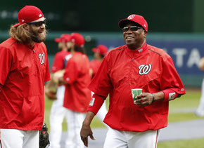 Il manager dei National Dusty Baker (Foto Alex Brandon)