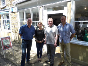 Steve, Anna, Chris & Brad outside the shop in Yeovil