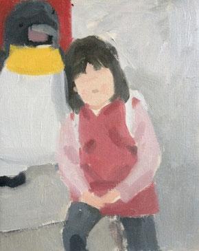 ペンギンのぬいぐるみと  3号(描画中)