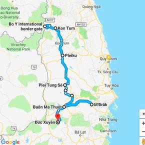 Erkundungstour - zentrales Hochland  - Vietnam – Erkundungstour – Ly und Heiko – Viethouse – Streckenverlauf – Flug – Hanoi – Pleiku – Kon Tum - Buon Ma Thuot – Beispiel – Tour – Urlaub