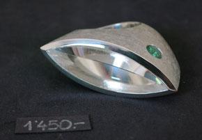Bild:Ring,Silber925,Bergkristall,Navette,Turmalin,Handarbeit,Unikat