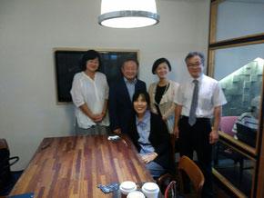 左から松下由美子先生、裴貞烈先生、鄭香在先生、申玟澈先生