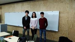 左から周さん(台湾台南出身)、南さん(吉林省出身)、王さん(台湾彰化出身)
