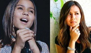 Olivia Olson avant et maintenant.