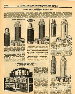 Thermoswerbung in den USA nach 1910