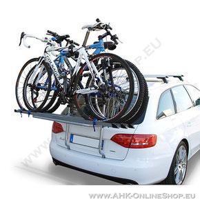 Fahrradträger mit PKW ohne AHK - Heckklappen-Fahrradträger