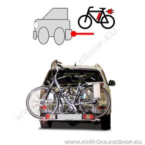 Fahrradträger für Anhängerkupplung - Elektrofahrrad und normales Rad