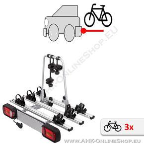 Fahrradträger für Anhängerkupplung für drei Fahrräder