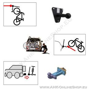 Fahrradträger für Anhängerkupplung - Zugebör