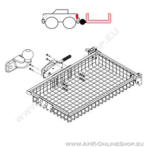 PKW-Heckträger für Anhängerkupplung