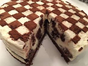 Schachbrett Torte